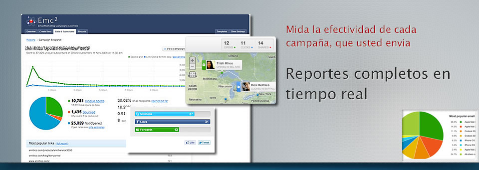 reportes  email marketing en tiempo real